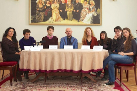 IUGTE directors and actors meet the press at Taganrog Theater